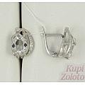 Серебряные серьги с горным хрусталем и цирконием