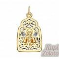 Нательная иконка из золота «Святая блаженная Матрона Московская»