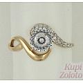 Кольцо из золота с алмазанитом