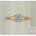 Помолвочное кольцо с кристаллом Сваровски
