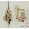 Серьги из золота с сапфиром и бриллиантами