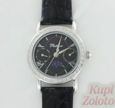 """Серебряные женские часы с фианитами """"Жанет"""""""